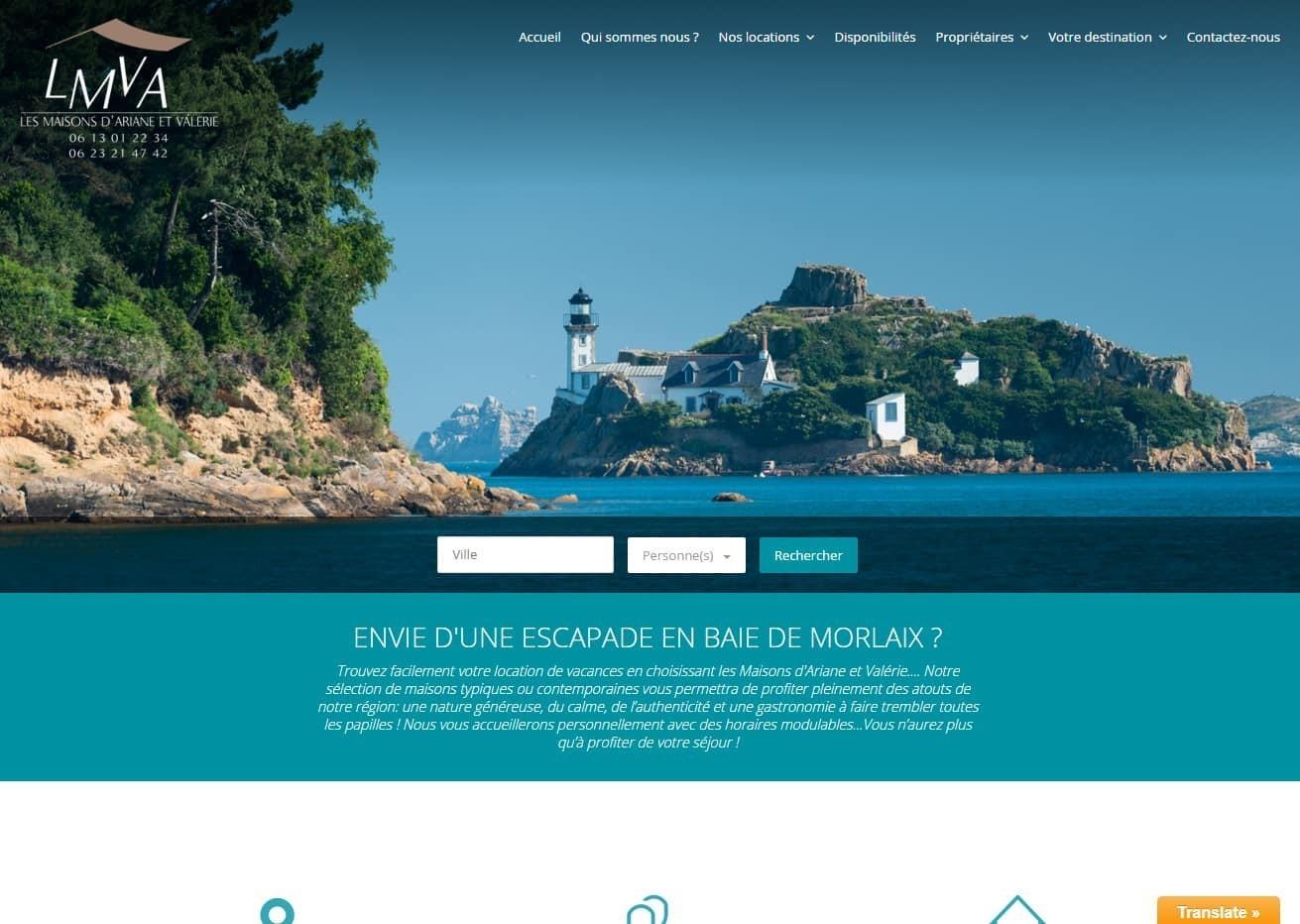 Nouveau site réalisé par ESIO Informatique, LMVA à Plougasnou