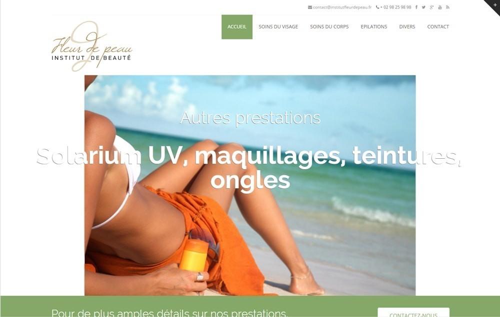 Refonte du site web de l'institut Fleur de Peau à Daoulas