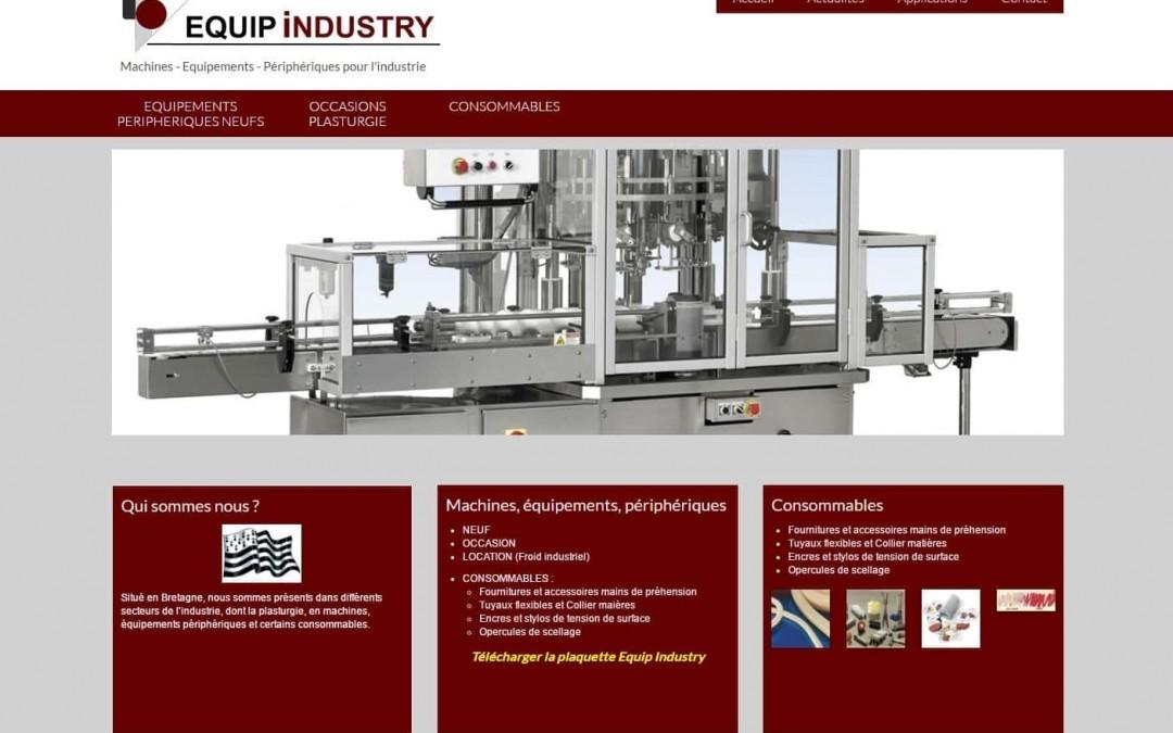 Nouveau site web réalisé par ESIO Informatique, Equip Industry à Daoulas