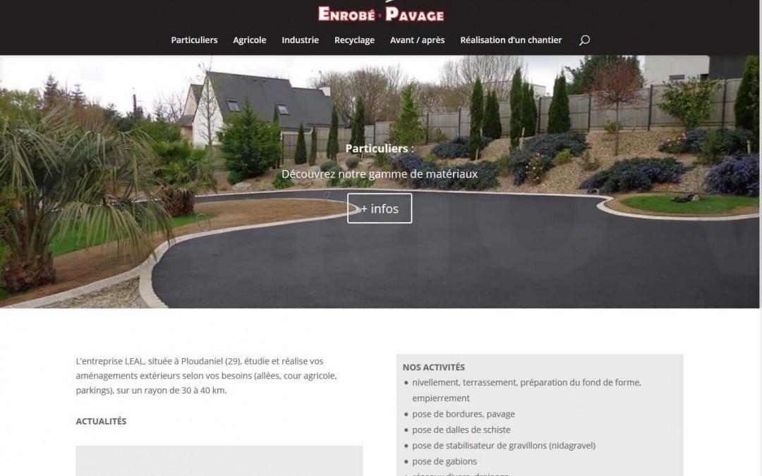 Mise en ligne du nouveau site web de l'entreprise LEAL à Ploudaniel