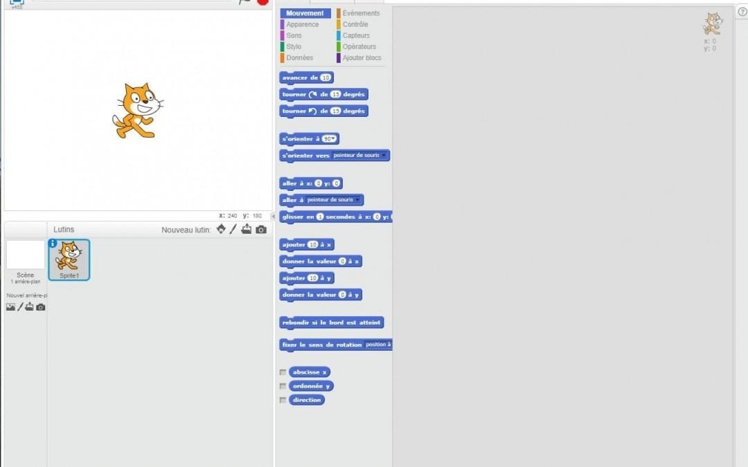 Outil en ligne : Scratch, initiation à la programmation informatique