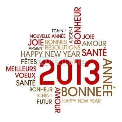 Bonne année 2013 à tous !