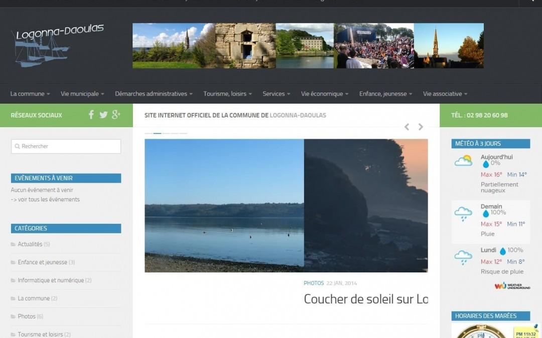Dernière réalisation d'ESIO Informatique, le nouveau site web de la commune de Logonna-Daoulas