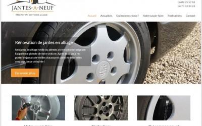 Une des dernières réalisations d'ESIO Informatique, le site web de «Jantes à Neuf»