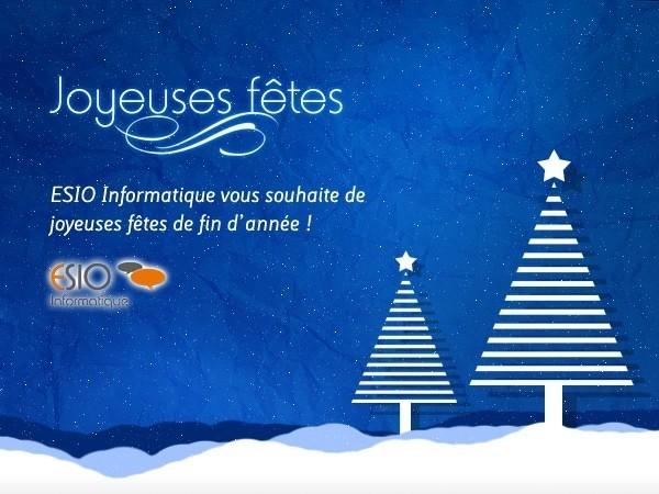 ESIO Informatique vous souhaite de joyeuses fêtes de fin d'année !