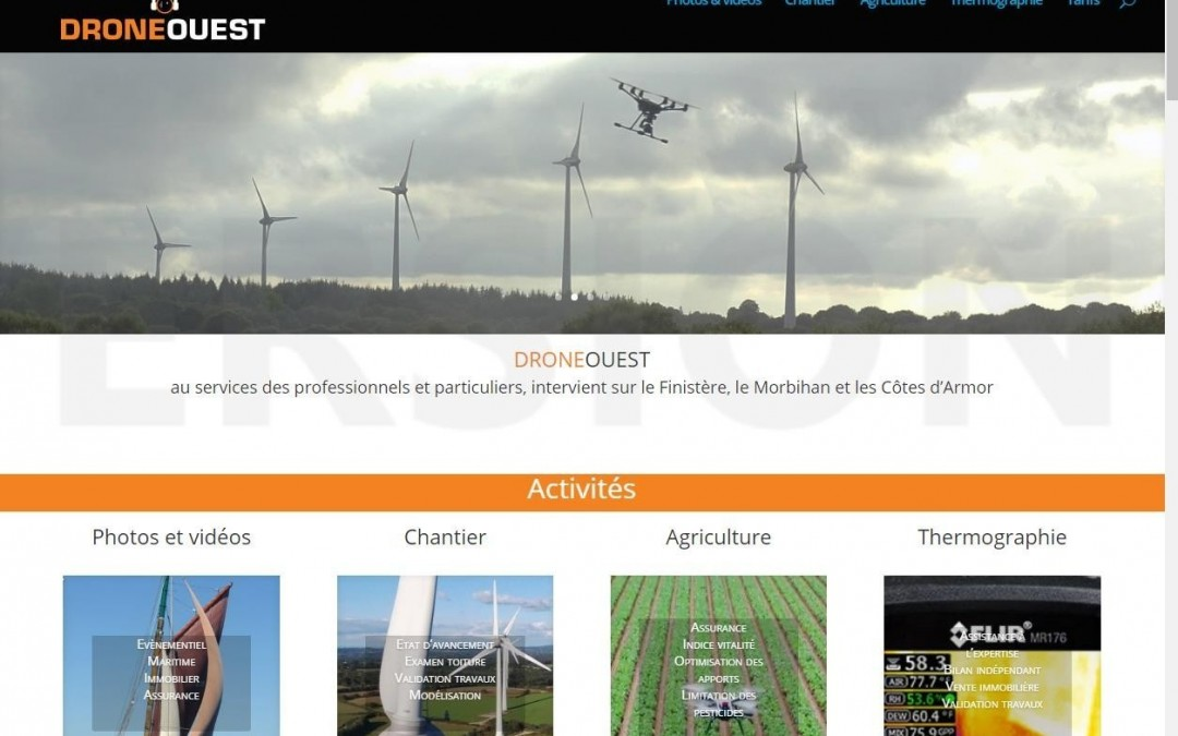 Mise en ligne d'un nouveau site web : DroneOuest.fr | ESIO Informatique