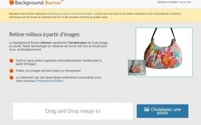 Outil en ligne : Background Burner supprime le fond des images