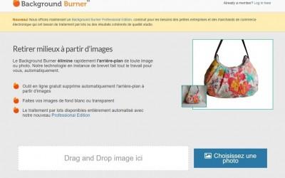Outil en ligne : Background Burner supprime le fond des images