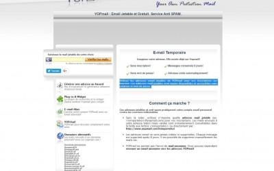 Outil en ligne : Yopmail, e-mail jetable et gratuit