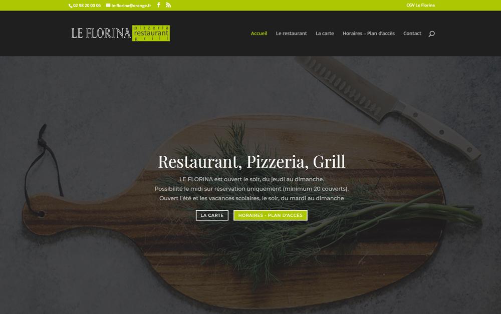 Nouveau site web : Restaurant Le Florina à l'Hôpital-Camfrout (29)