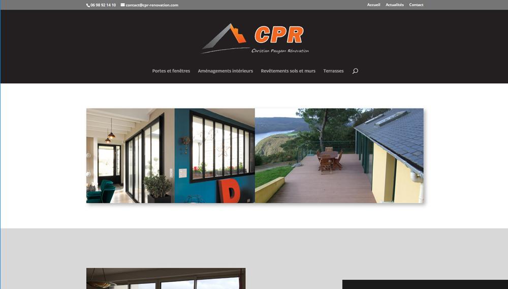 Nouveau site web : CPR Rénovation à Hanvec | ESIO Informatique