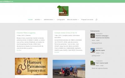 """Refonte du site internet de l'association """"Ribin à Logonna"""""""