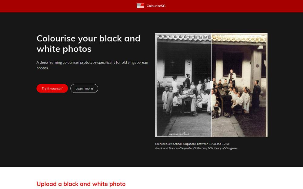 Colorisez en ligne vos vieilles photos noir et blanc avec Colourise.sg